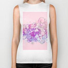 Purple floral swirls Biker Tank