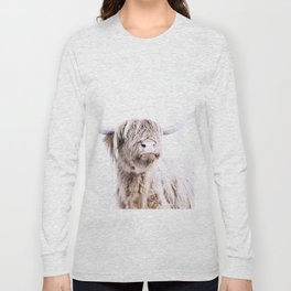 HIGHLAND CATTLE PORTRAIT Long Sleeve T-shirt