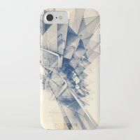 polygon iPhone & iPod Cases featuring Polygon Tower by Intelligent Pencil