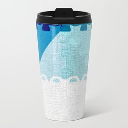 Decorative Pastel Puzzel Abstract Travel Mug