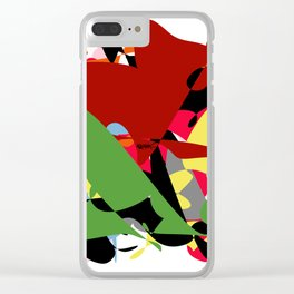 Forest of Colors, Abstract Art Clear iPhone Case