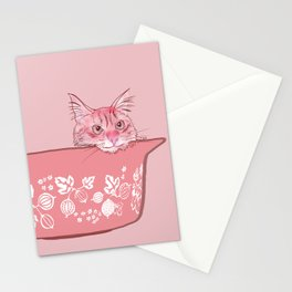 Cat in Bowl #1 Stationery Cards