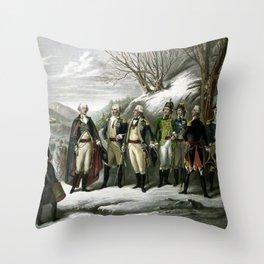 Washington and His Generals Throw Pillow