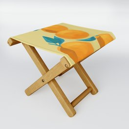 Oranges on yellow Folding Stool