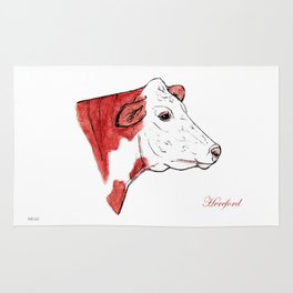 Hereford | English cow Rug
