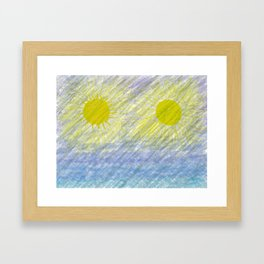 Two suns Framed Art Print