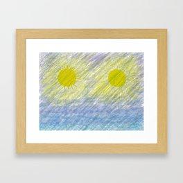 Two suns Framed Art Print