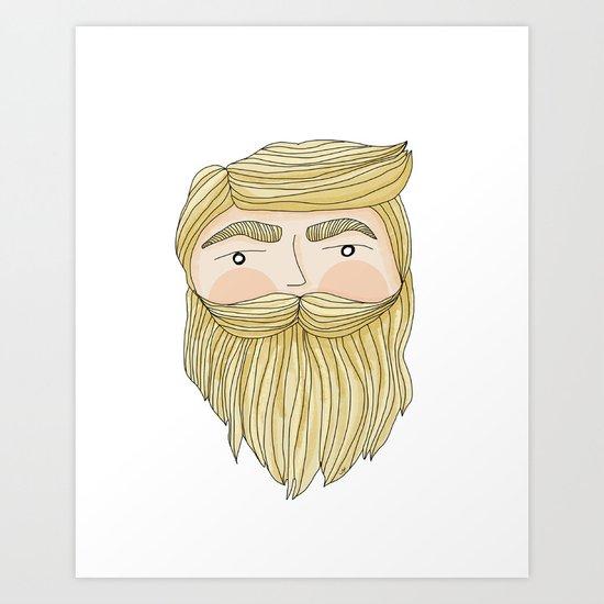 The Illusive Blonde Beard Art Print