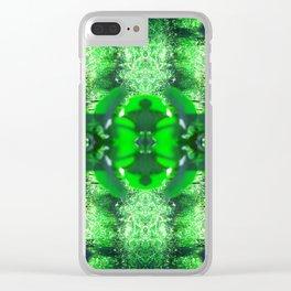 Diamond Orbs of Emerald Clear iPhone Case