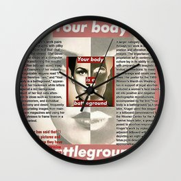 Who does she think she is? Wall Clock