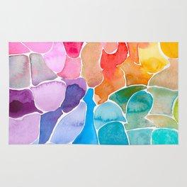 Rainbow glass Rug