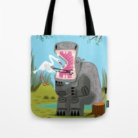 dentist Tote Bags featuring Hippopotamouth by Oliver Lake