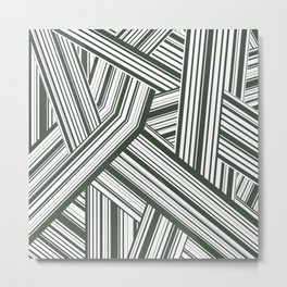 Abstract Crossing Stripes Pattern Metal Print