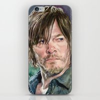 daryl dixon iPhone & iPod Skins featuring Daryl Dixon by Mark Satchwill Art