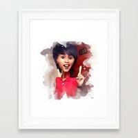 humor Framed Art Prints featuring humor by thinKING