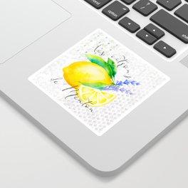 Les Citrons de Menton—Lemons from Menton, Côte d'Azur Sticker