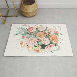 Fall Dahlia Bouquet Rug