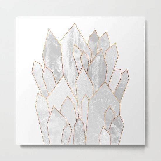 White Crystals Metal Print