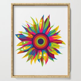 Colorful Sun Flower Serving Tray