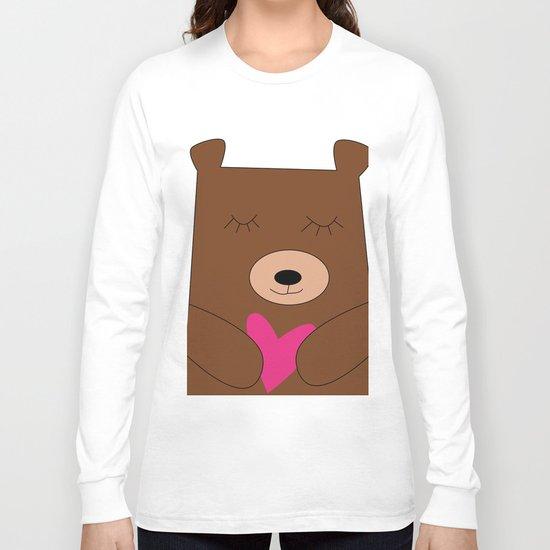Bear in love pink Long Sleeve T-shirt