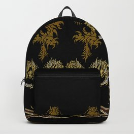 Muster Drachen - metallisch Backpack