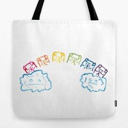 pug rainbow Tote Bag