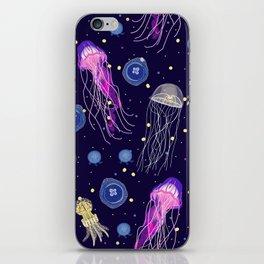 Starry Night Jellyfish  iPhone Skin