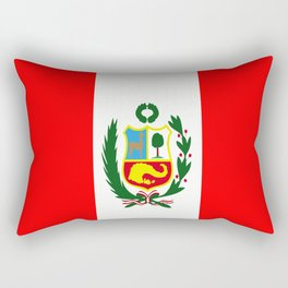 Flag of Peru Rectangular Pillow