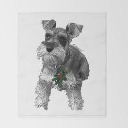 Christmas Schnauzer Throw Blanket