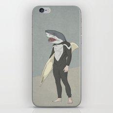 SHARK SURFER iPhone & iPod Skin
