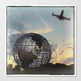 Unisphere Jetplane Canvas Print