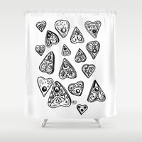 ouija Shower Curtains featuring Ouija - 1 by Vicky Pandora - Modern Witches Daily