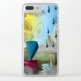 Hello Dali Clear iPhone Case