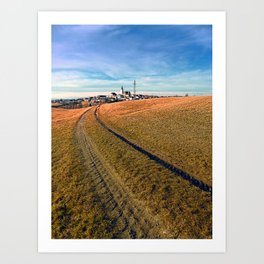 On the way to the village center | landscape photography Art Print