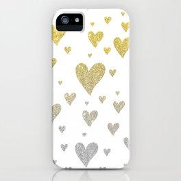 Glitter Hearts iPhone Case