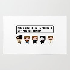 The IT Crowd Characters Rug