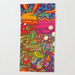 Psychedelic Art Beach Towel