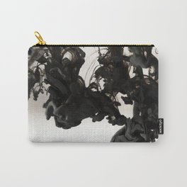 Abstract Black Ink in Water Carry-All Pouch