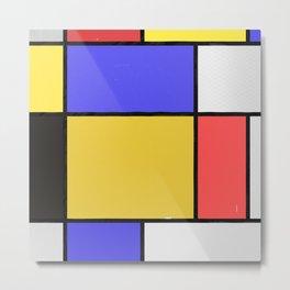 Piet Mondrian Patterns Metal Print