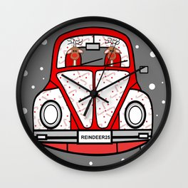 Sleigh Is In The Shop -Merry Christmas Wall Clock