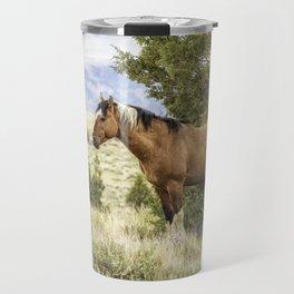 Stallion Relaxing on So Steens Mountain Travel Mug