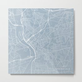 Springfield Map, USA - Slate Metal Print