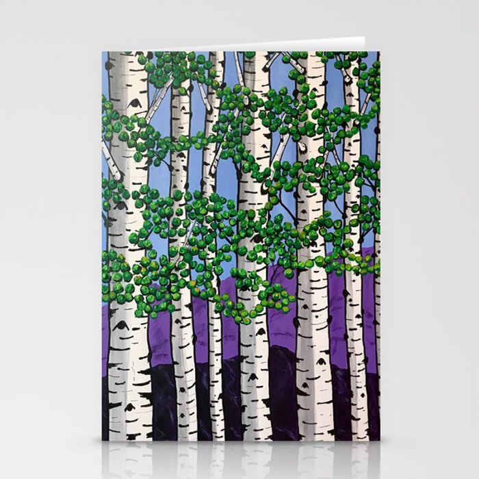 Summer aspens Stationery Cards