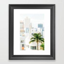 South Beach Miami Pastel Skies Framed Art Print