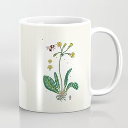 yellow cowslip and bee Coffee Mug