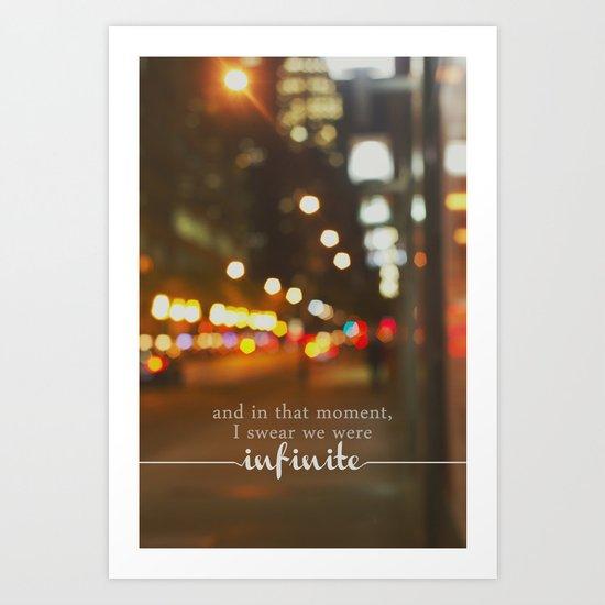perks of being a wallflower - we were infinite Art Print
