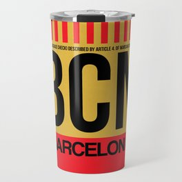 BCN Barcelona Luggage Tag 1 Travel Mug