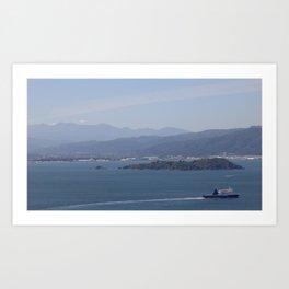 Ferry Blue Art Print