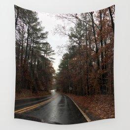 rainy fall drive Wall Tapestry