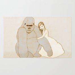 Gorilla and Girl Rug
